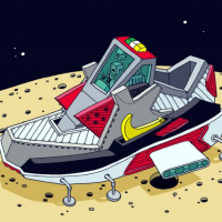 'Space Sneaker' Illustrations by Ghica Popa