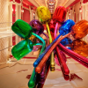Jeff Koons' $33.7 Million Dollar Tulips On Display at Wynn Las Vegas