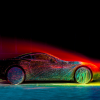 Watch Artist Fabian Oefner Cover the 2015 Ferrari California T in Glowing Paint