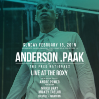 Win Tickets To See Anderson .Paak & The Free National Live At The Roxy – February 15, 2015