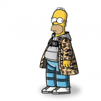 Simpson characters re-created in streetwear fashion