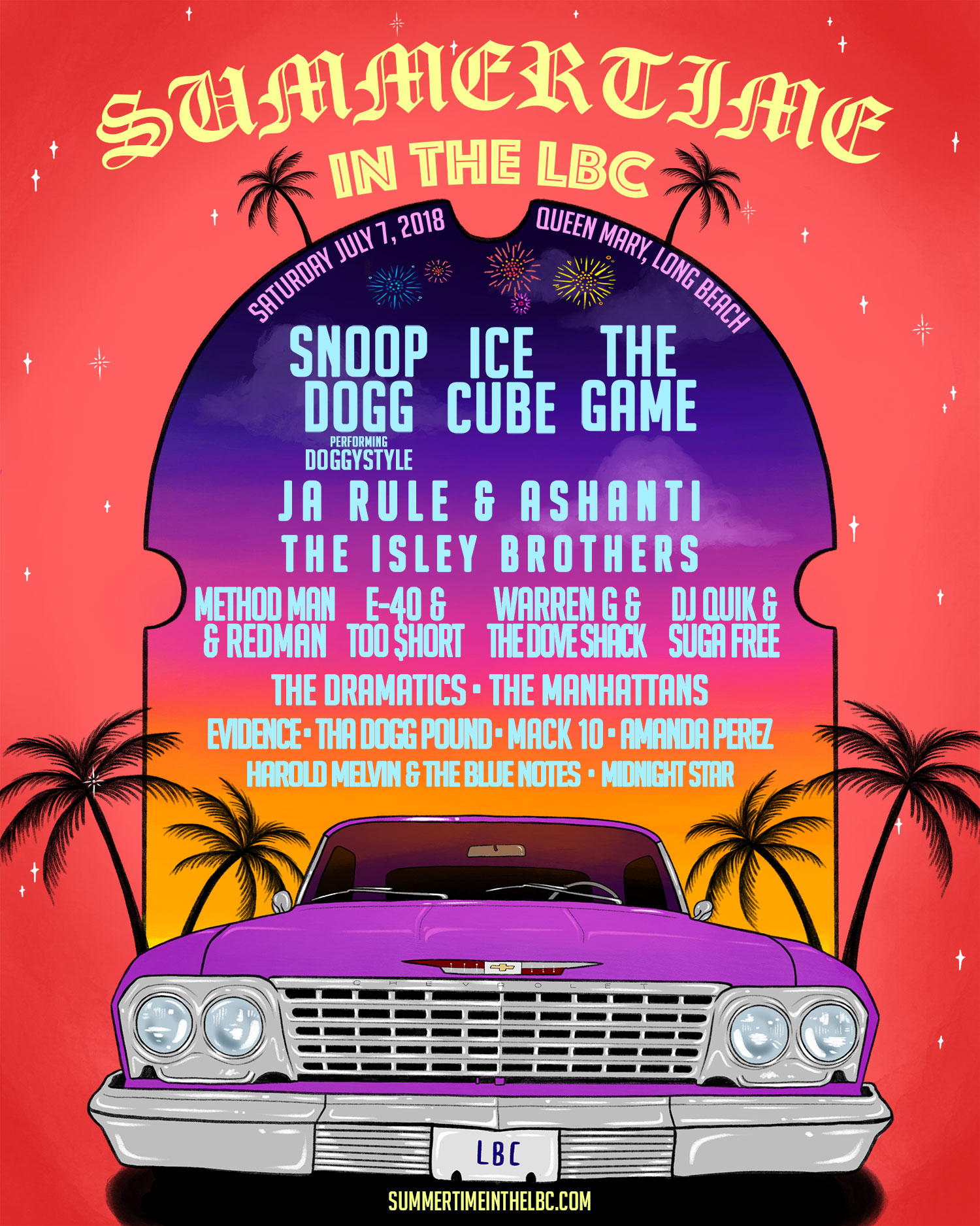 Summertime In The LBC Returns Back To Long Beach Featuring Snoop - Long beach car show 2018